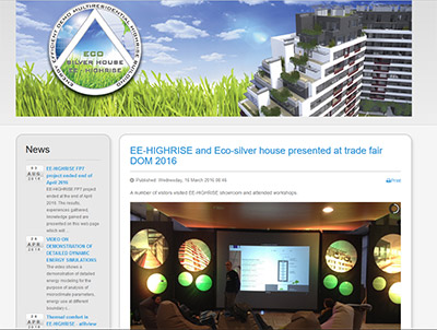 EE-HIGHRISE and Eco-silver house presented at trade fair DOM 2016